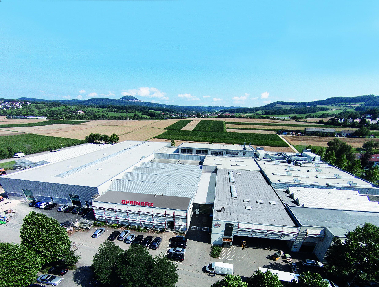 Luftaufnahme Werk Salach von Süden.