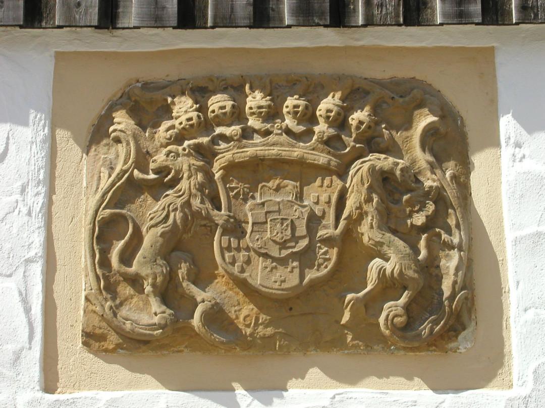 Sandstein-Wappen Burg Staufeneck