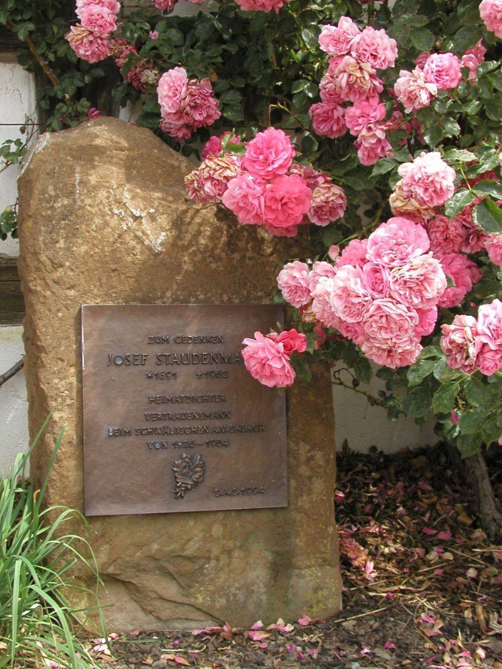 Gedenktafel für Josef Staudenmaier in Bärenbach