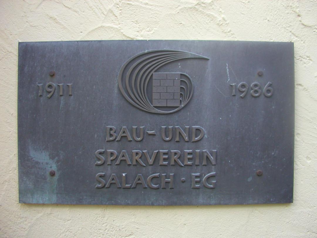 Gedenkplatte für den Bau- und Sparverein