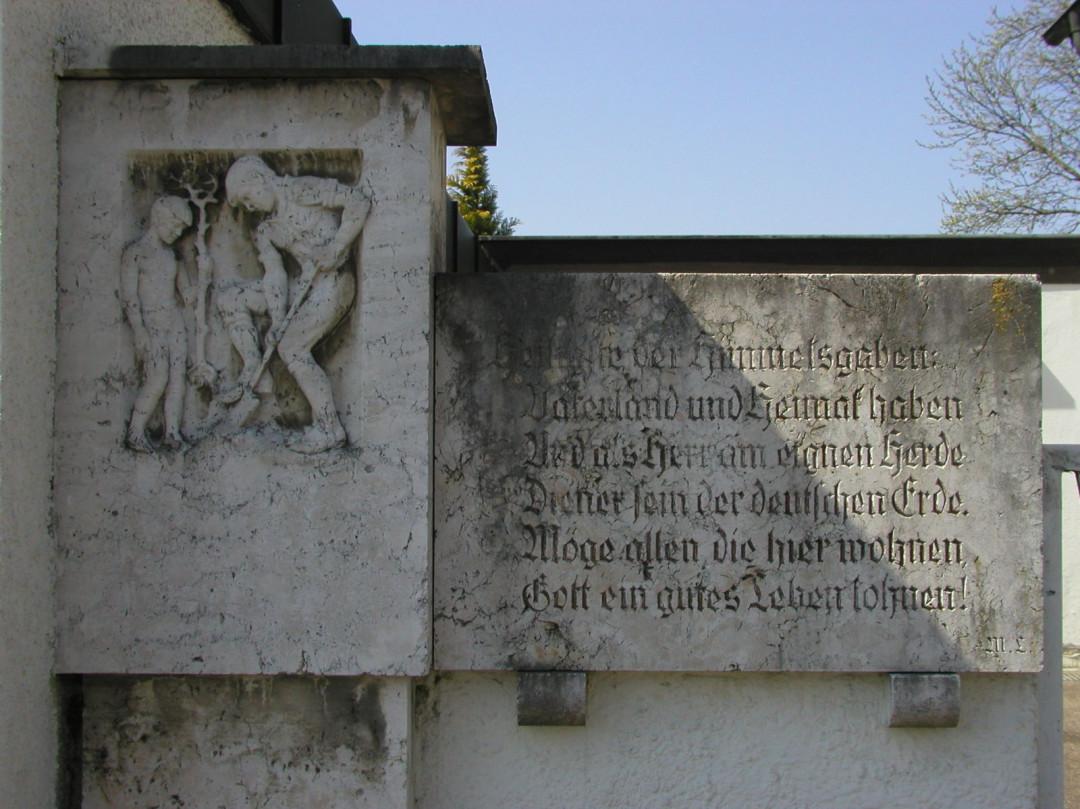 Gedenkstein Schachenmayr-Siedlung